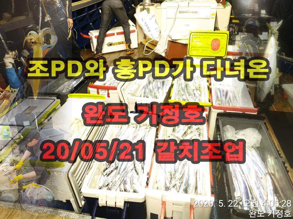 5월21일~22일 완도 거정호 갈치낚시 현장영상!!